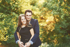 Boyfriend and girlfriend together. Royalty Free Stock Image