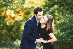 Boyfriend and girlfriend together. Royalty Free Stock Images