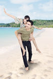 Boyfriend giving piggyback Stock Photo