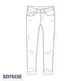Boyfriend jeans Royalty Free Stock Photography