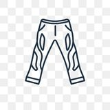 Boyfriend Low Jean vector icon isolated on transparent background, linear Boyfriend Low Jean transparency concept can be used web royalty free illustration