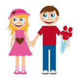 Boyfriends cartoons Stock Photography