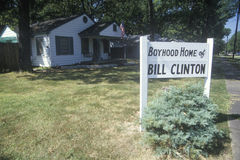 Boyhood home of Bill Clinton Stock Photo