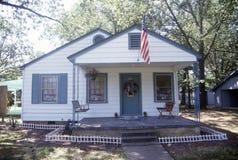 Boyhood huis van Bill Clinton in Hoop, Arkansas stock afbeeldingen