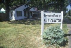 Boyhoodutgångspunkt av Bill Clinton Arkivfoto