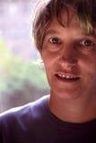 Boyish. Middle aged blond tom boy girl Stock Images