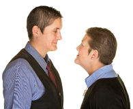 Boyish Couple Staring at Each Other Royalty Free Stock Photo