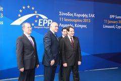 Boyko Borissov en Nicos Anastasiades Stock Afbeelding