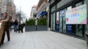 Boylston街在波士顿,美国, 股票录像