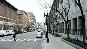 Boylston街在波士顿,美国, 股票视频