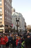 Boylston Crowds Royalty Free Stock Images