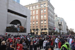 Boylston Crowds Stock Photos