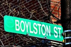 Boylstonstraat in de Plaats van Boston van het Bombarderen royalty-vrije stock foto's
