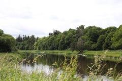 Boyne河,接近纳文的风景 免版税库存照片