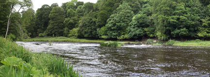Boyne河,接近纳文的风景 免版税库存图片