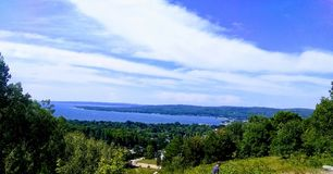 The Whole View of Boyne City stock photography