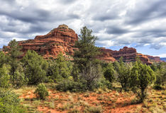 Boynton Canyon area in Sedona, Arizona, USA. Landscape view of Boynton Canyon area in Sedona Sedona is an Arizona desert town near Flagstaff that's royalty free stock image