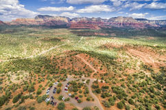 Boynton Canyon area in Sedona, Arizona, USA. Landscape view of Boynton Canyon area in Sedona. Sedona is an Arizona desert town near Flagstaff that's royalty free stock photos