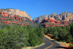 Boynton Pass Road Near Sedona, AZ stock images