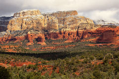 Free Boynton Red White Rock Canyon Snow Sedona Arizona Stock Images - 19156494