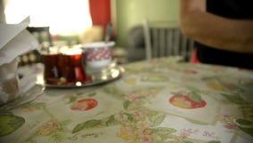 Boyoz e chá turcos video estoque