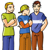 Boys. Three street boys with pose Royalty Free Illustration