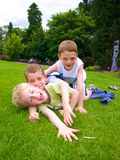 Boys. A photograph of three boys playing in summer stock photography