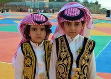 Boys in arab style. Saudi boys in abha Royalty Free Stock Images