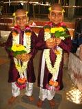 Boys At Sacred Thread Ceremony Stock Photos