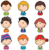 Boys Avatars Stock Photography