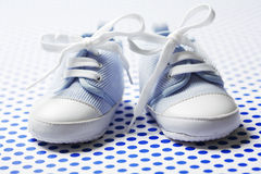 Boys baby shoes Royalty Free Stock Images
