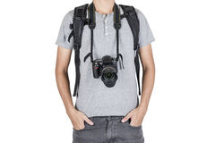 Boys backpack Stock Photography