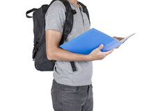 Boys backpack Stock Images