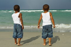Boys At The Beach Royalty Free Stock Photo