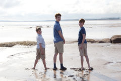 Boys at the beach Royalty Free Stock Photo