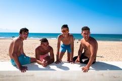 Boys on the beach Stock Photo