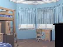 Boys Bedroom Stock Photography