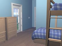 Boys Bedroom Royalty Free Stock Image