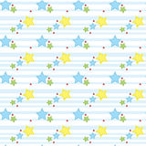 Boys blue seamless. Background with star Stock Image