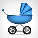 Boys blue stroller object isolated vector Stock Photos