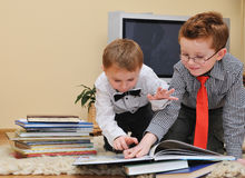 Boys with books Royalty Free Stock Images