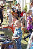 Boys at boot fair fete Royalty Free Stock Photo