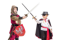 Boys with carnival costume stock photo