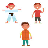 Boys characters Royalty Free Stock Photography