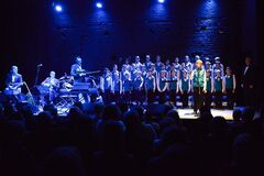 Boys choir onstage Royalty Free Stock Image