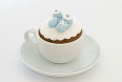 Boys Christening Cupcake Stock Images