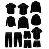 Boys clothes. Sketches Royalty Free Stock Photos