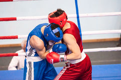 Boys compete in boxing Stock Image