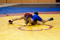 The boys compete in Greco-Roman wrestling, Orenburg, Russia Stock Photography