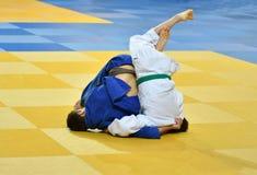 Boys compete in Judo Stock Photo